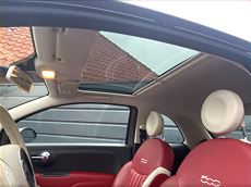 Fiat 500 Model Fashion-glastag-læder sæder