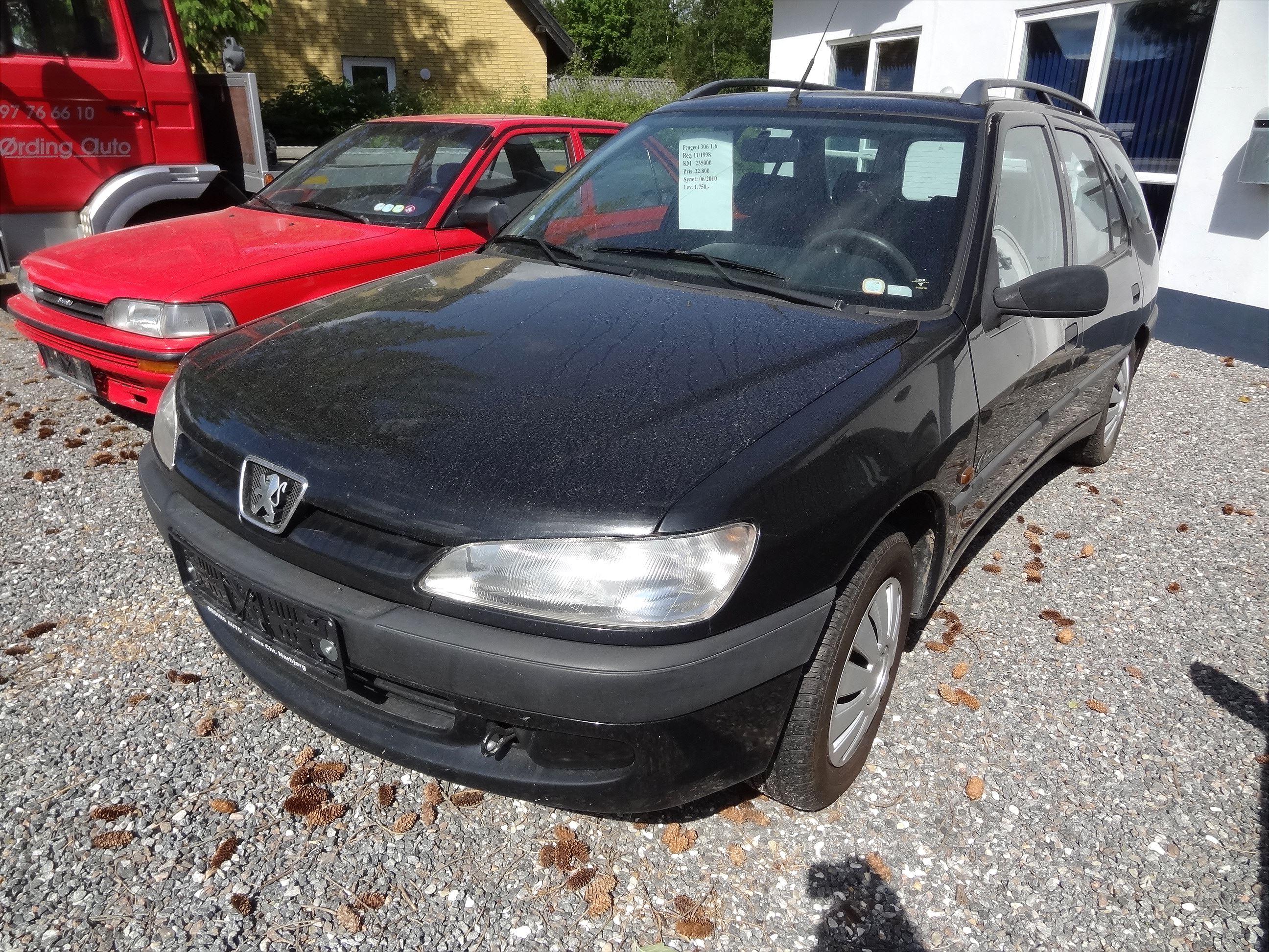 Brugt Peugeot 306 1,6 (1998) 235.000 km, Øster Assels 7990, Morsø, Nordjylland, Til salg hos ...