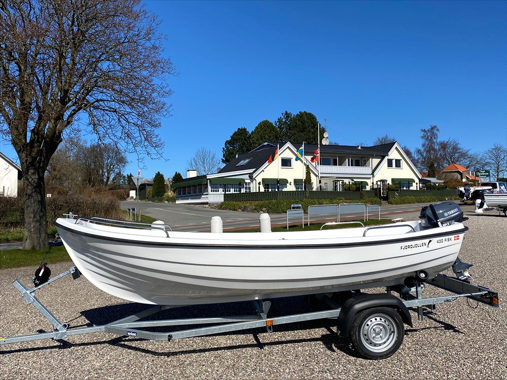 Fjordjollen 430 FISK med motor